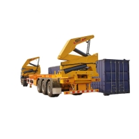 Quality MQH37A  20 to 40ft 3 Axle  37 Ton Side Self Loading Container Trailer for sale