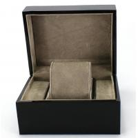 Quality Piano Paint Matte MDF Wooden Jewelry Box Grey Interior With Removable Cushions for sale