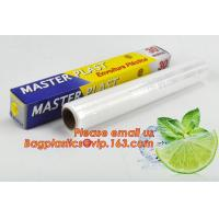 Quality Eco friendly non toxical soft pe pvc food cling wrap on sale, clear food film food grade PE plastic wrap for sale