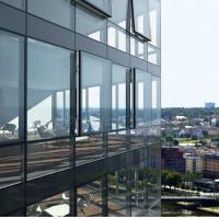 Quality Aluminum Curtain Wall Profile Concealed Frame Glass Wall for sale