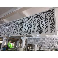 hollow pattern 3mm aluminum cladding panel with powder coated for facade curtain wall solid panel single panel