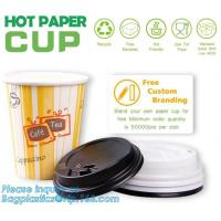 Buy Biodegradable coffee paper cup with lid custom printed paper cup,3oz 5oz 6oz 8oz ice cream paper cup and paper lid pack at wholesale prices