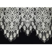 """Quality Off White Scalloped Edge Soft Raschel Eyelash Lace Trim 1.5 Meters Length 60"""" Width for sale"""