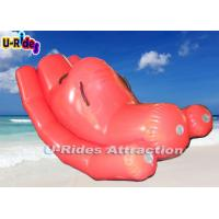 Pink Beach Custom Inflatable Water Games Teetertotter With 12 Months Warranty