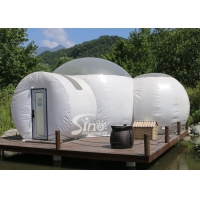 China Romantic Glamping 2 Rooms Inflatable Bubble Tent Hotel With bath Room And Lock Doors from Sino Inflatables on sale