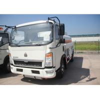 Quality 4x2 91HP Fuel Transport Trucks , Six Wheels 6000 Litres Gasoline Tanker Truck for sale