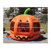 Quality Halloween Pumpkin Inflatable Bounce Houses For Kids Party Outdoor Use for sale