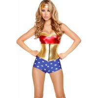 Hero Costumes Wholesale Polyester Spandex PVC Comic Book Heroine Costume with size S to XXL