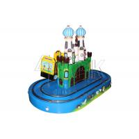 Quality Coin Operated Small Train Ride On Track Round Castle Comfortable And Safe for sale