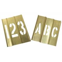 China Spray Painting Metal Letter Stencils , Rectangle Shape Brass Letter Stencils on sale