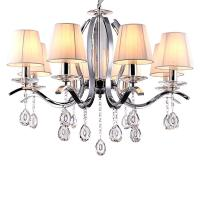 Quality Metal chandelier with glass crystals 6/8 Lights with lampshade (WH-MI-53) for sale