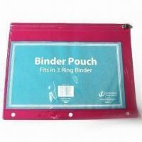 China Zipper Binder Pouch, Suitable for Stationary Bag and Gifts on sale