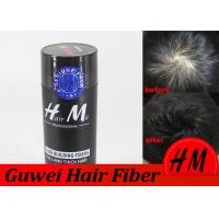Quality HM Natural 2nd Generation Keratin Hair Thickening Fibres Black / Dark Brown for sale