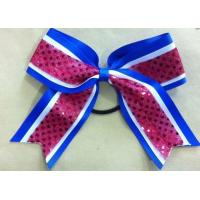 Quality Custom Made Cheerleading Hair Bows for College Cheer Uniforms for sale