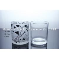 China Custom Logo Glass Candle Holder, Glass cup on sale