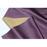 Quality Shining Synthetic Leather Material , 0.4mm Leather Look Polyester Fabric for sale