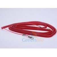 Quality Elastic Fishing Boat Kayak Paddle Leash Red Safety With 2 Quick Release Snaps for sale