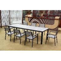 Buy cheap Plastic Wood Dining Set Garden Furniture (BZ-P007) from wholesalers
