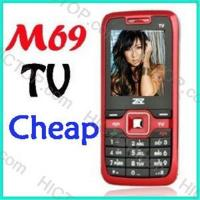 China Low Cost Quad Band 2 SIM TV Mobile Phone M69 on sale