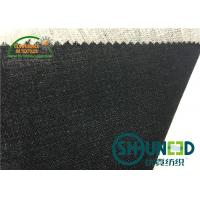 Quality Black Hair Interlining Fabric Interfacing Heavy Weight For Men's Suit for sale