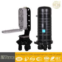 Quality Black Outdoor Cable Box Enclosure , High Level Plastic Dome Type FTTH Closure for sale