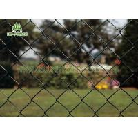 China Diamond Hole Steel Chain Link Fence 50 × 50mm Heat Resistance For Railway Station on sale