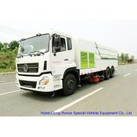Quality KL 6x4 LHD / RHD Road Sweeper Truck , Mechanical Street Sweeper for Washing for sale