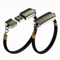 Quality Bracelet USB Flash Drives with Plug-and-play Function, OEM Orders are Accepted for sale
