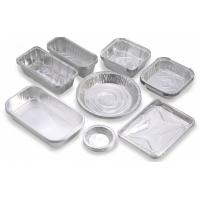 Quality Custom Food Packaging Aluminium Foil Baking Trays , Disposable Aluminum Pans for sale