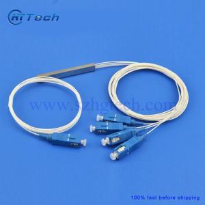 Quality Steel Tube Fiber Optic Splitter 1x4 PLC Splitter With SC/UPC Connector for sale