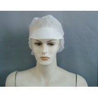 Quality Disposable Non Woven 20g Peaked Flat Cap For Industrial Use for sale