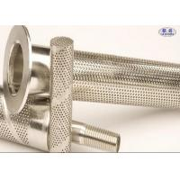 China Stainless Steel Perforated Filter Tube , AISI 304 Punching Hole Stainless Mesh Tube on sale