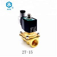 China Stainless Steel Low Price Brass 1/2 inch 220V AC Lpg Natural Gas Solenoid Valve on sale