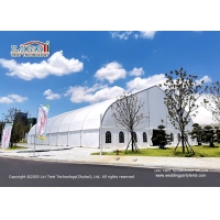 China Aluminum and PVC Curve Tent Frame Tent Big Arch Trade Show Frame Arcum Marquee Curve Tent for trade exhibition hall on sale