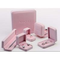 China Lovely Velvet Lined Jewelry Box Pink Suede Eco Friendly For Jewelry Promotion on sale