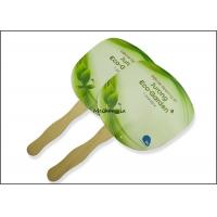 Quality Customized paper board wooden Hand Fans Round Square Green Traditional Style for sale