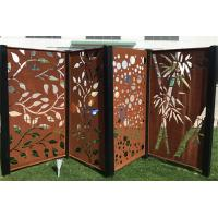China High Strength Laser Cut Corten Steel Panel Screen For Garden Decoration Sculpture on sale