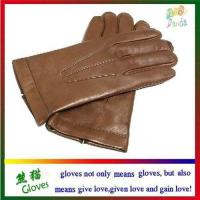 China Mens genuine leather gloves on sale