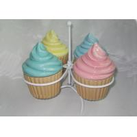 China Mini Ceramic Cupcake Box , Ceramic Ice Cream Cups With Lids Earthenware on sale