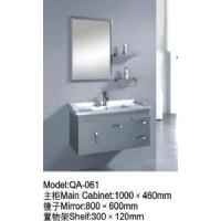 China Newest Gray Stainless Steel Bathroom Vanity Cabinet QA-061 on sale