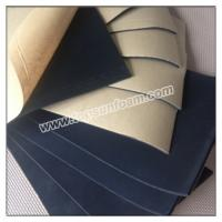 China Black Color Cr Foam Rubber with Adhesive on sale