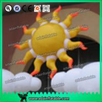 Quality 2m 210D Oxford Cloth LED Lighting Inflatable Sun Color Changing For Party Decoration for sale