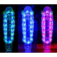Quality LED light skateboard deck led wheel skateboard with CE for sale