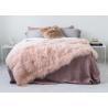 Genuine Tibetan Sheepskin Throw For Queen Size Bed, Soft Sheepskin Fur Blanket