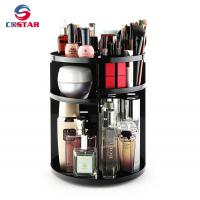 Quality Best selling standing type plastic storage holders 360 rotating makeup organizer for sale
