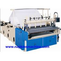 Quality Recycled Toilet Paper Making Machine With Color Printing And Rewinding Machine for sale