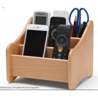 Decorative Wood  Desk Organizer For Home Remote Controls / Phone