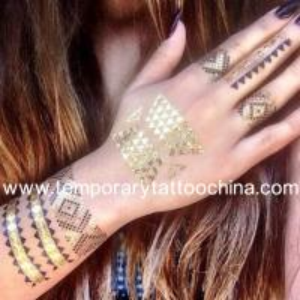 China White Henna Tattoo Metallic Flash tattoos on sale