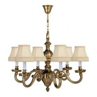 Quality Victorian brass chandelier Lighting Fixtures 6 Lights (WH-PC-24) for sale