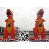 Quality Decorative Attractive Inflatable Model Dinosaur PVC Tarpaulin Vivid Orange for sale
